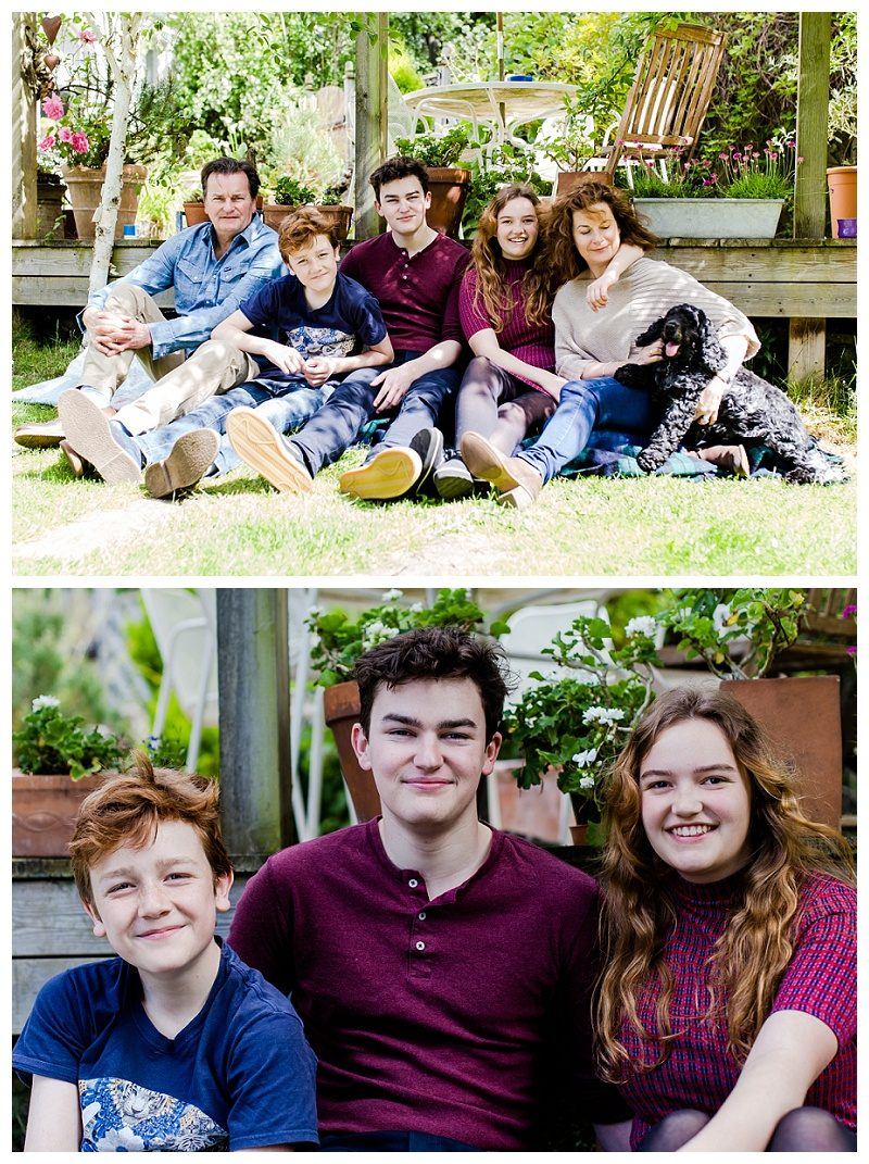 Raynes Park Family photo shoot in garden