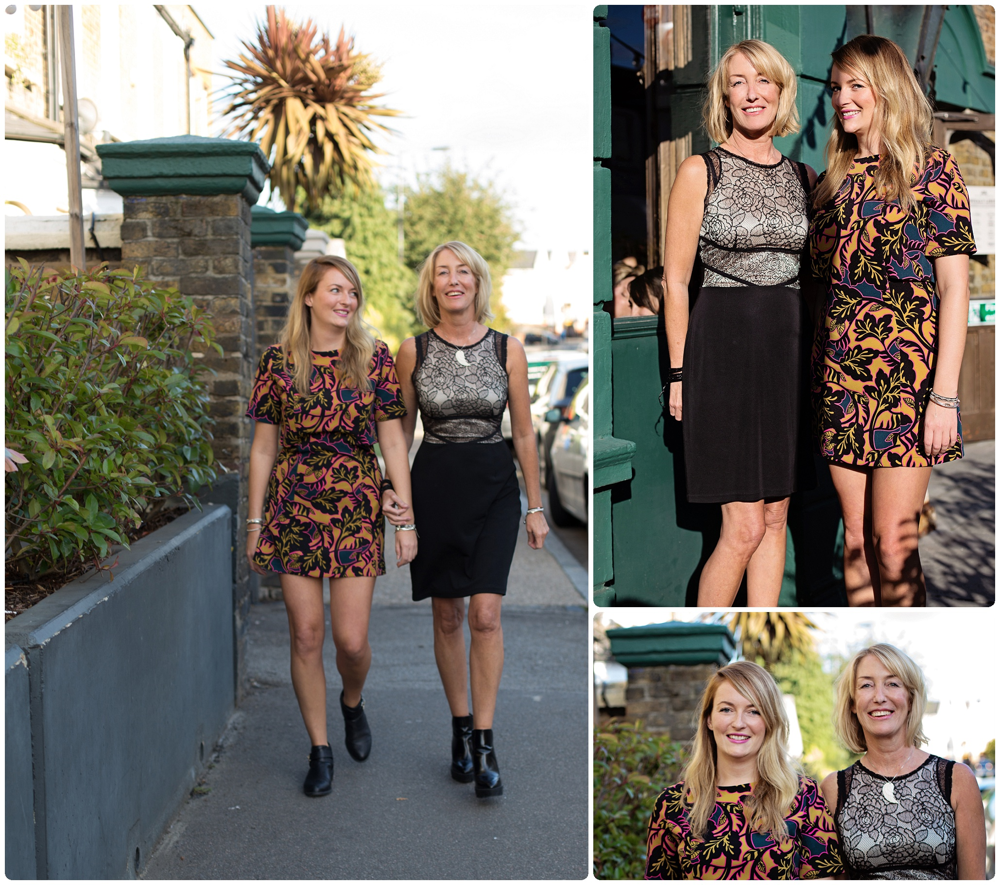 Mother and daughter shoot, London,