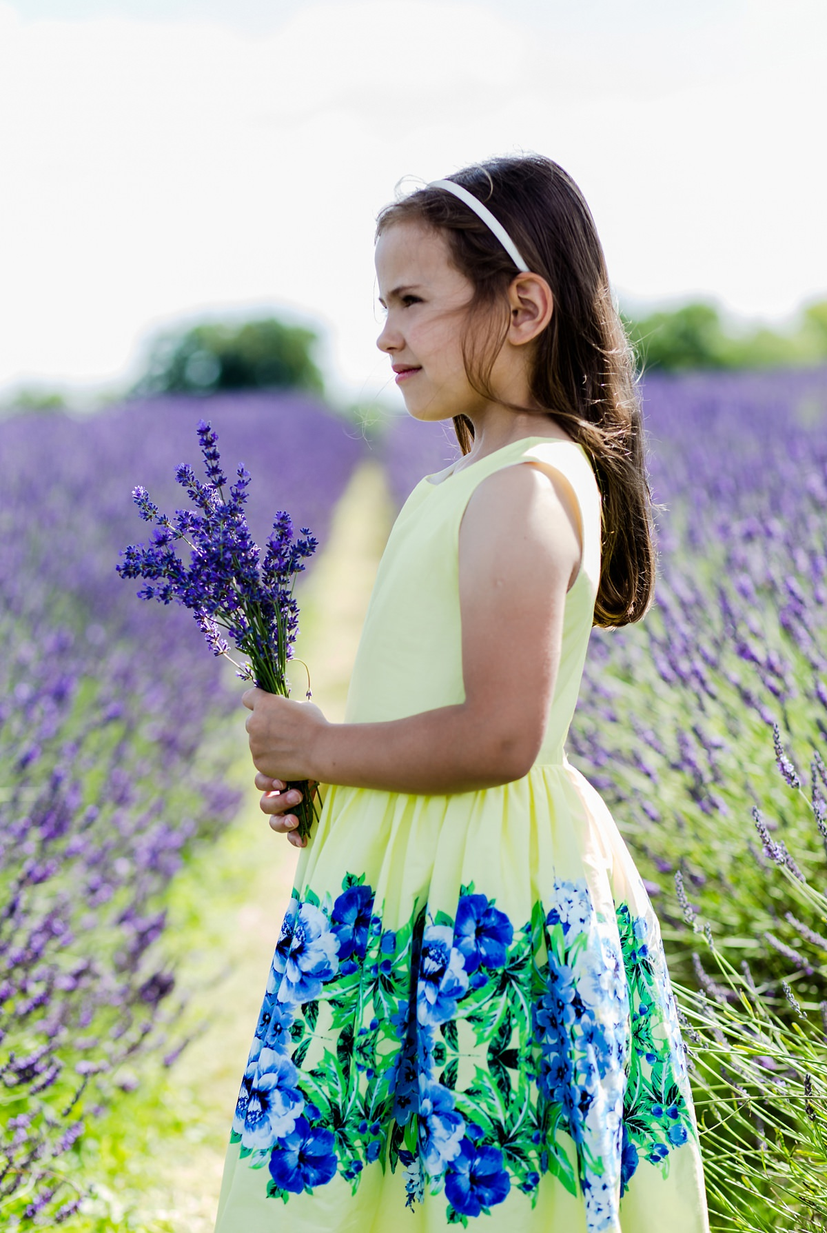 Girls lavender photography