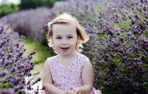 Girl in Lavender field, Surrey