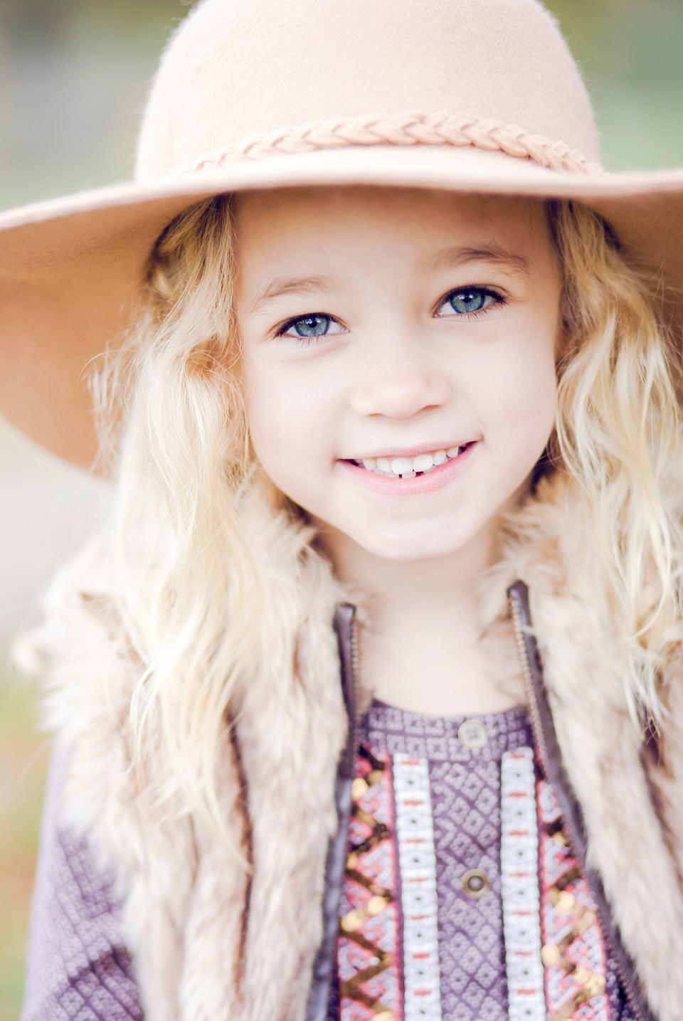 girl in hat in nonsuch park
