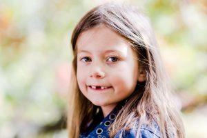 Girl in photo shoot in park