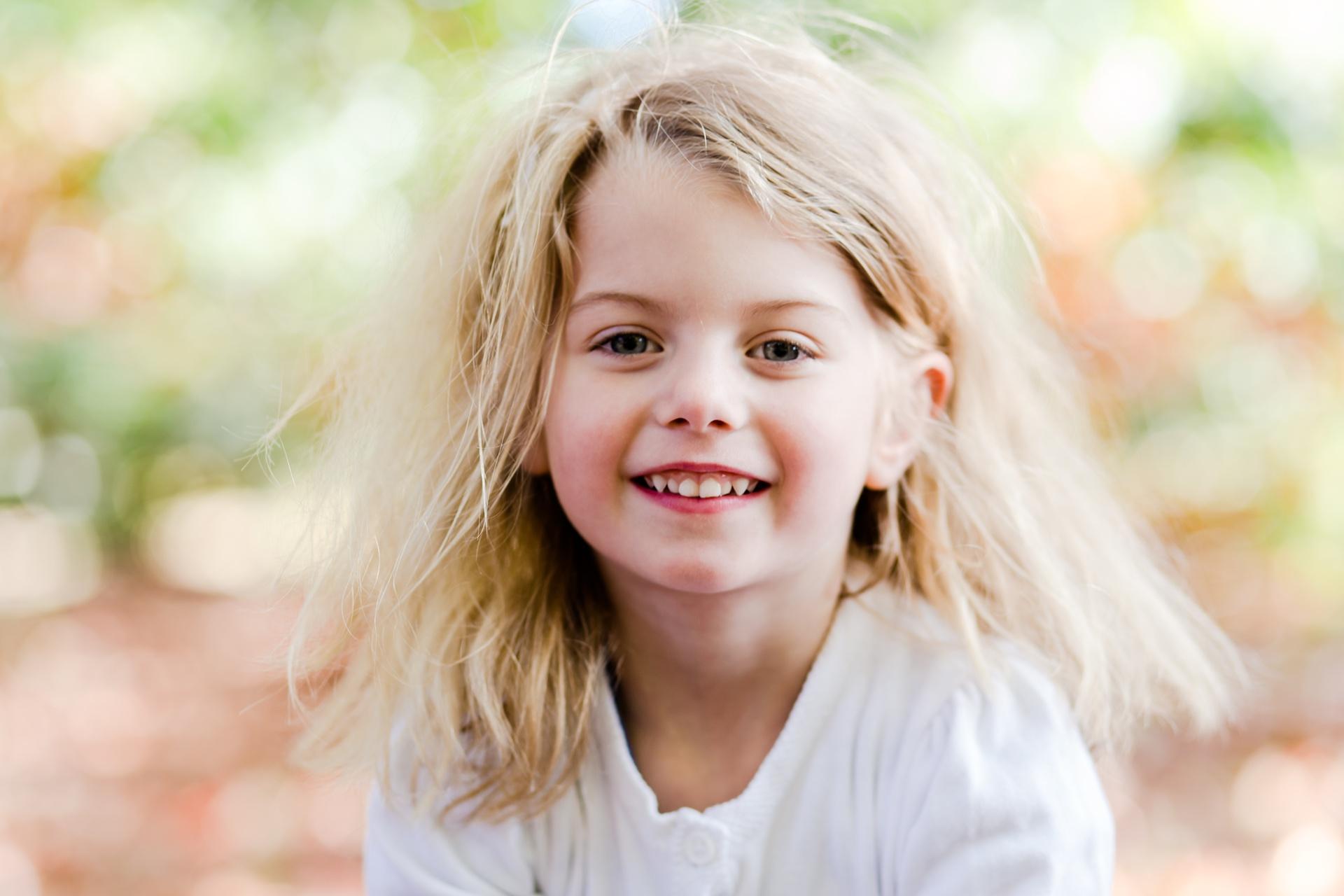 Cute girl in park photo shoot