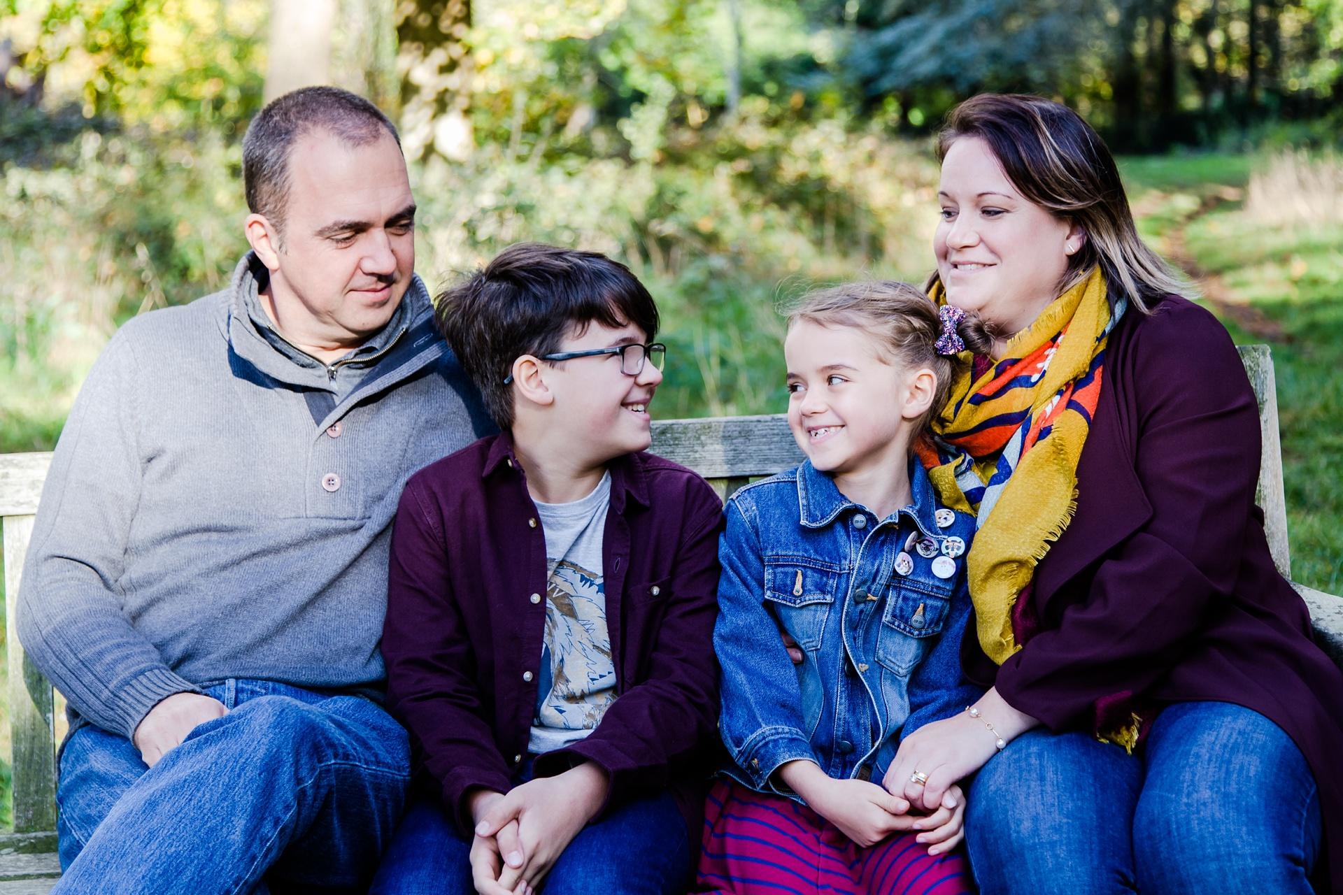 Family photo shoot in Motspur Park