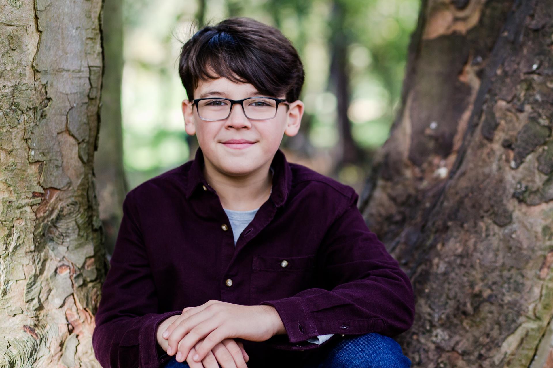 Boy portrait in Motspur Park